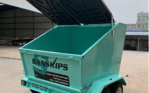 Danskips   Trailer Mounted Skip Bins for Hire   Book Your Bin